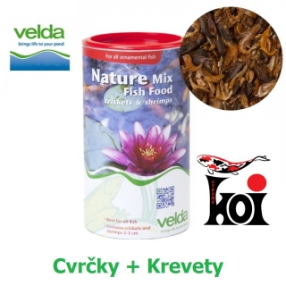 Nature Mix Fish Food Velda 1250 ml, Cvrčky + Krevety