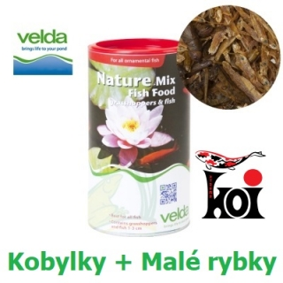 Nature Mix Fish Food Velda 1250 ml, Kobylky + Rybky